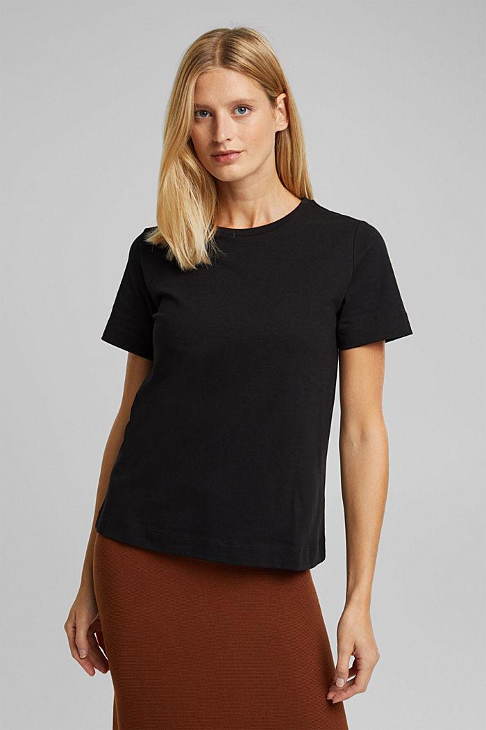 T-shirt made of 100% organic cotton, BLACK, detail image number 0