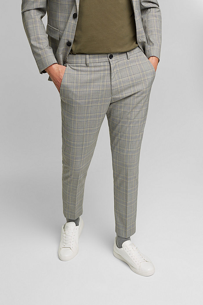 GLENCHECK Mix + Match: trousers, GREY, detail image number 4
