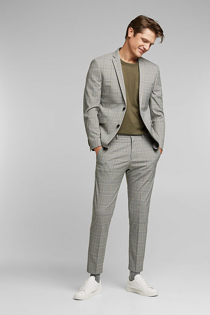GLENCHECK Mix + Match: trousers, GREY, detail image number 2
