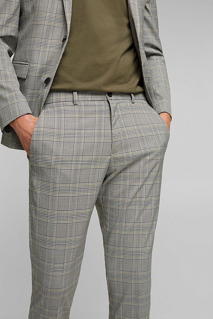 GLENCHECK Mix + Match: trousers, GREY, detail image number 3