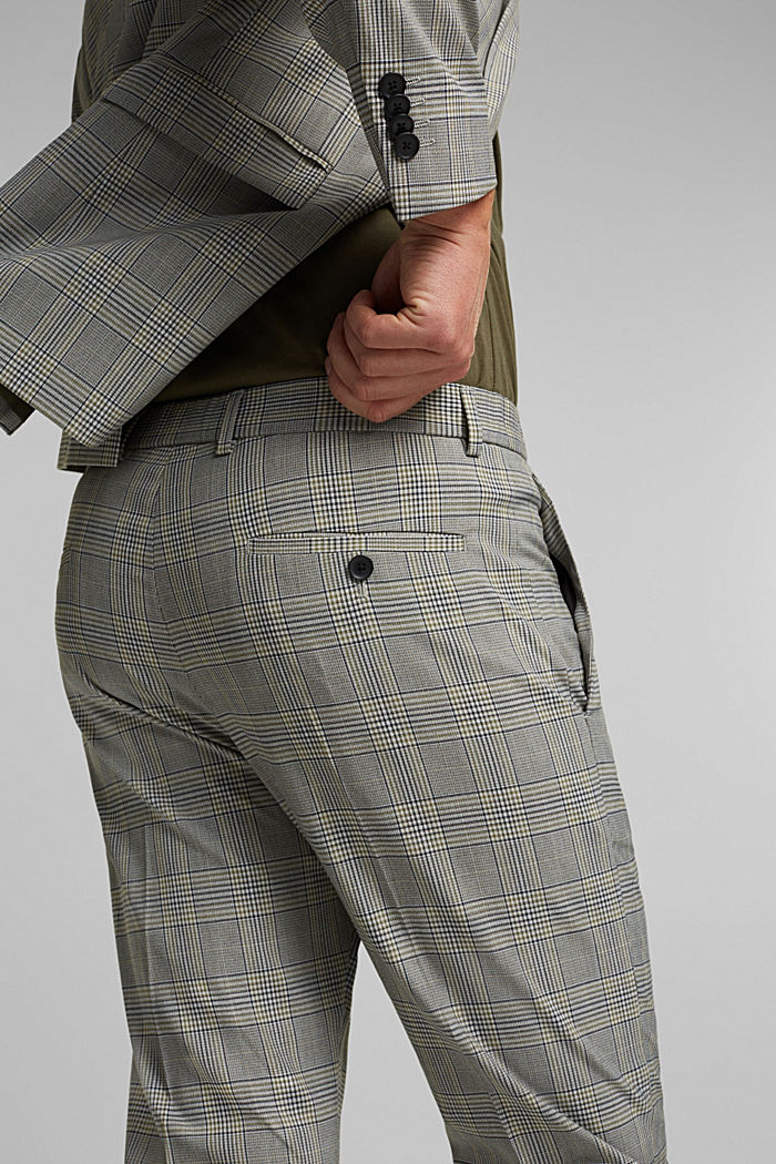 GLENCHECK Mix + Match: trousers, GREY, detail image number 6