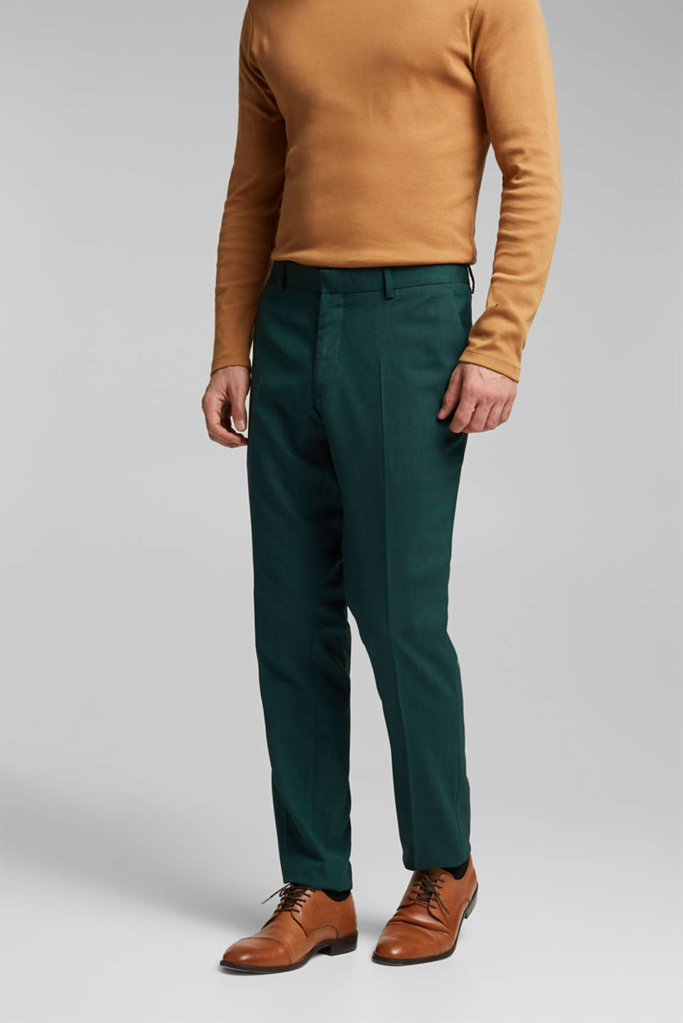 Esprit - Pantalon Mix + Match WOOL STRUCTURE