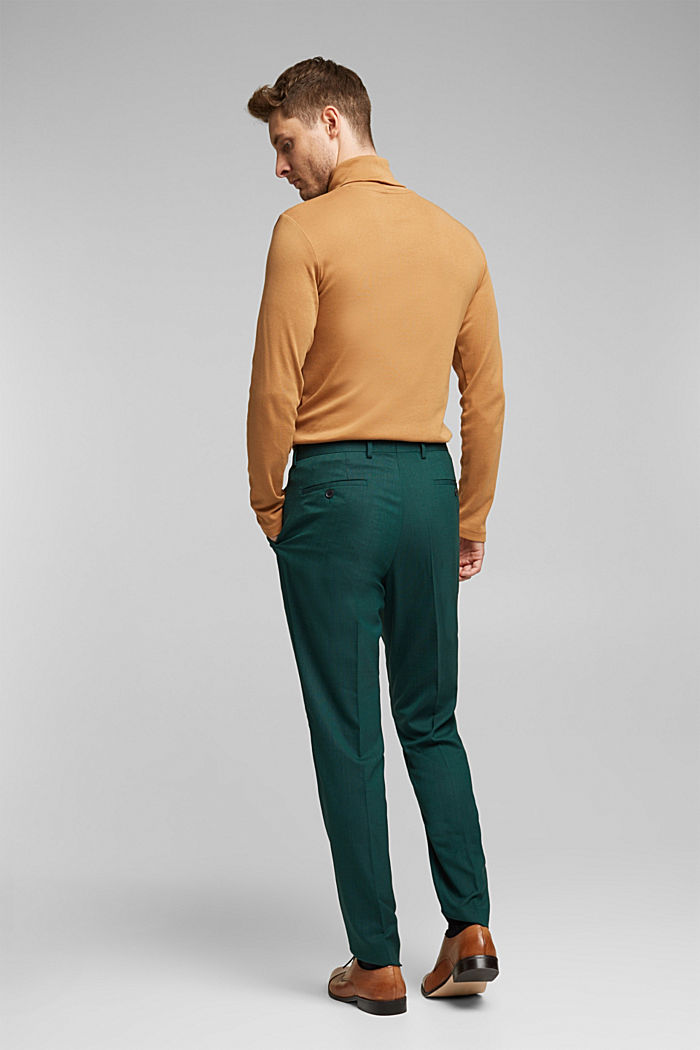 WOOL STRUCTURE Mix + Match trousers, BOTTLE GREEN, detail image number 1