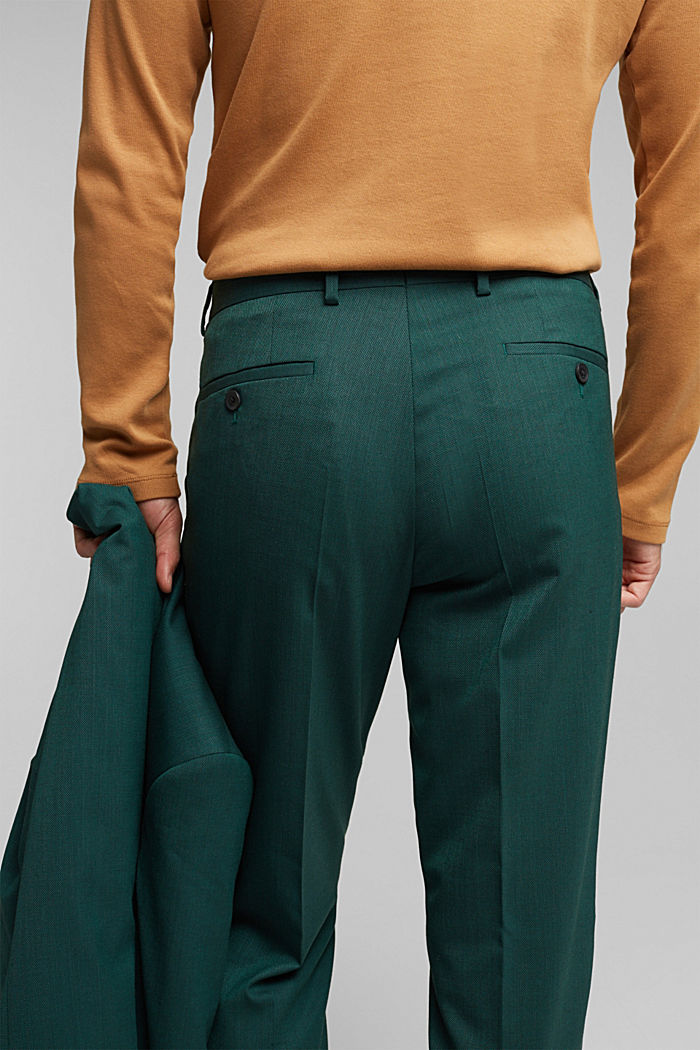 WOOL STRUCTURE Mix + Match trousers, BOTTLE GREEN, detail image number 5