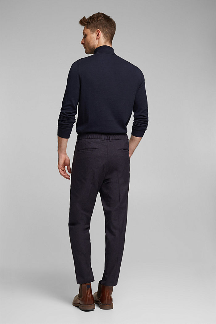 SPORTY CROPPED: trousers containing organic cotton, DARK BLUE, detail image number 3