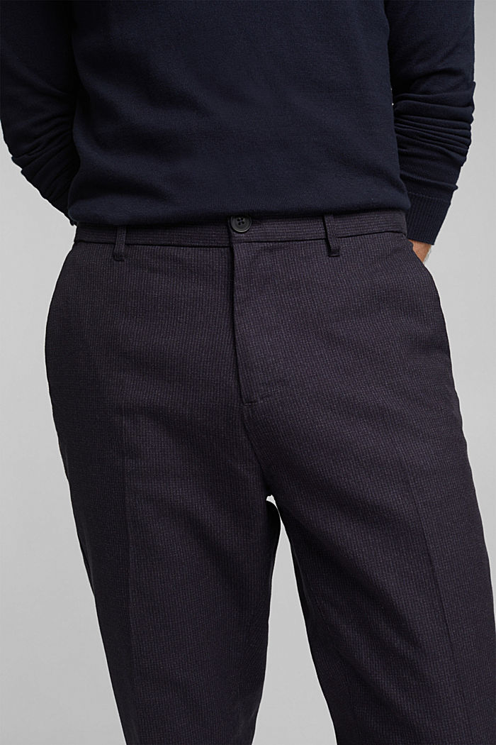 SPORTY CROPPED: trousers containing organic cotton, DARK BLUE, detail image number 5
