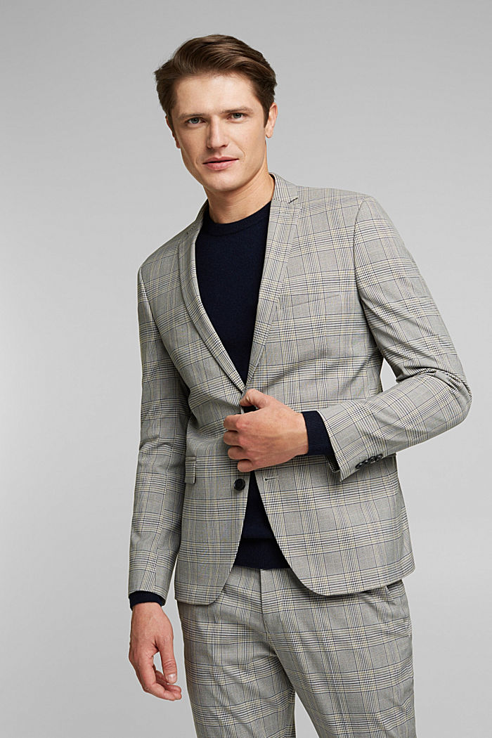 GLENCHECK Mix + Match: sports jacket, GREY, detail image number 0