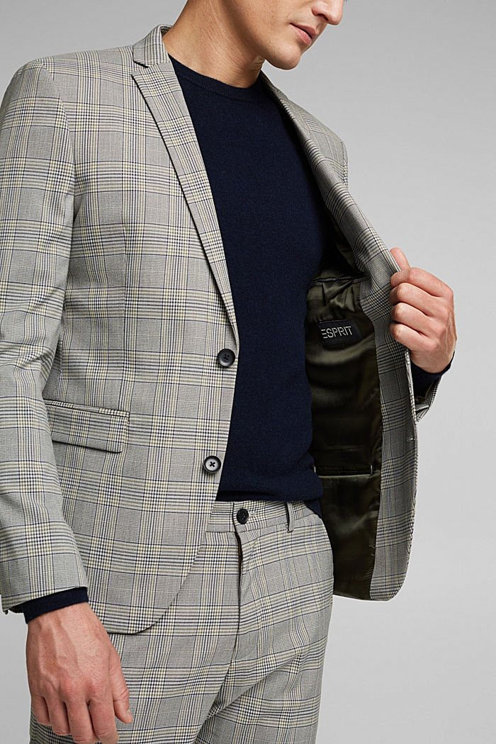 GLENCHECK Mix + Match: sports jacket, GREY, detail image number 6