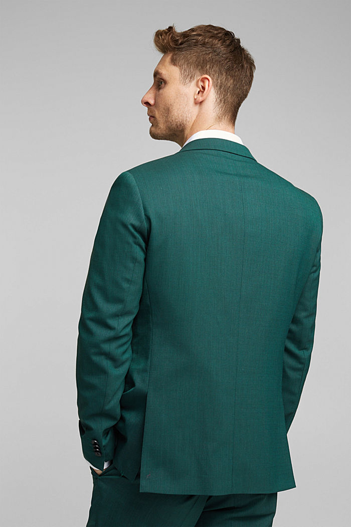 WOOL STRUCTURE Mix + Match sports jacket, BOTTLE GREEN, detail image number 3