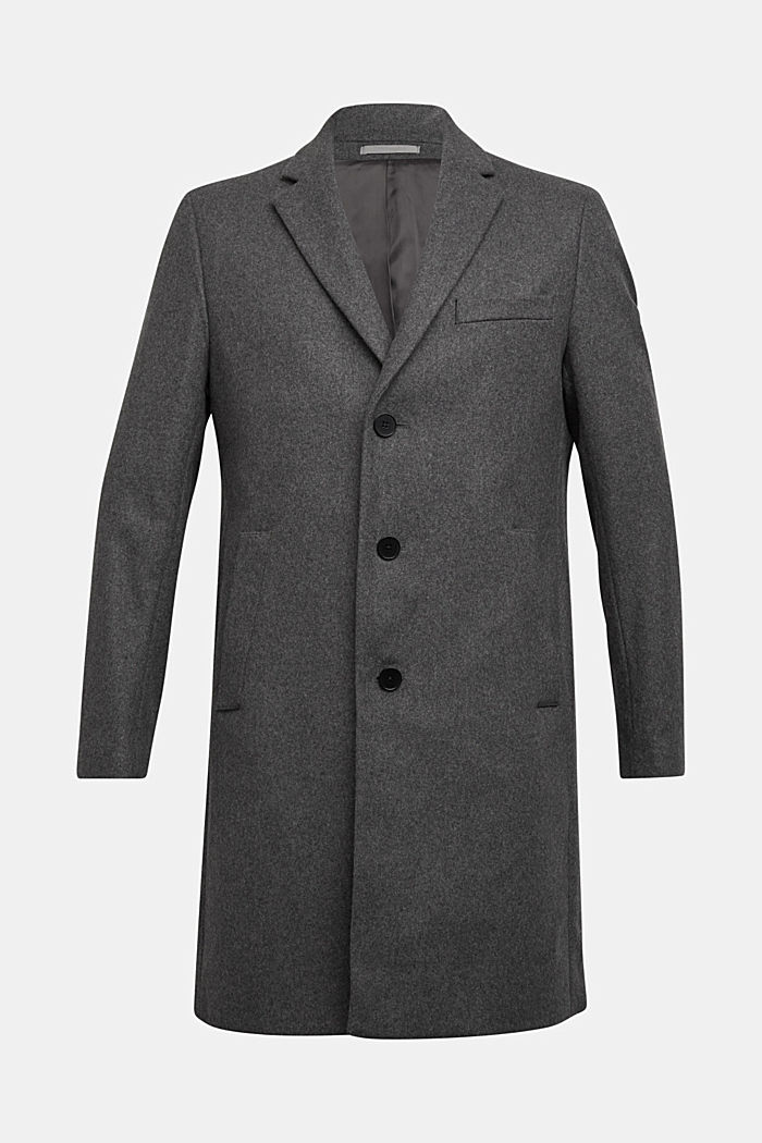 Premium coat made of blended new wool