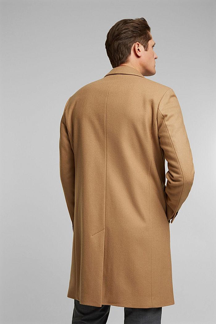 Premium coat made of blended new wool, CAMEL, detail image number 3