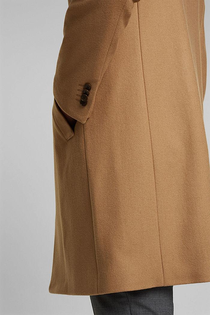 Premium coat made of blended new wool, CAMEL, detail image number 2
