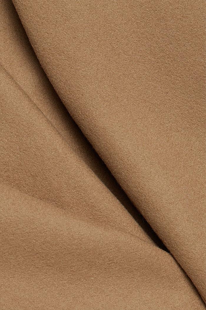 Premium coat made of blended new wool, CAMEL, detail image number 4