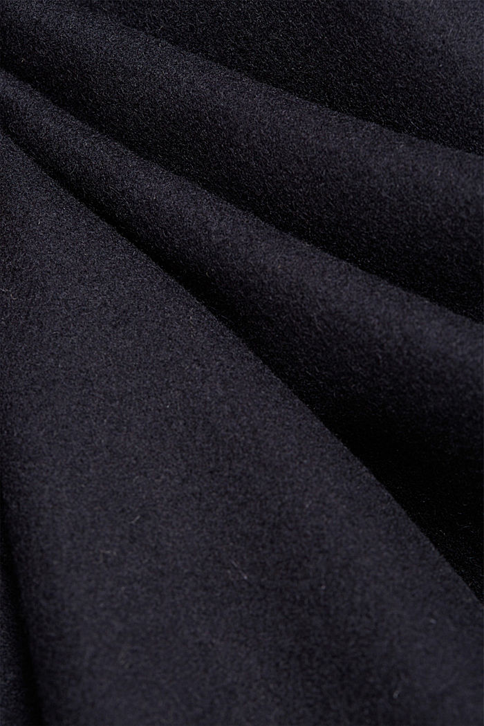 Premium coat made of blended new wool, DARK BLUE, detail image number 4