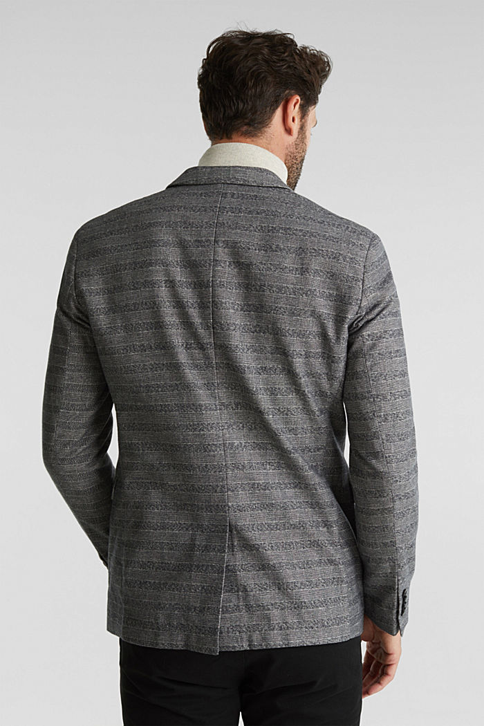 Flannel jacket with organic cotton, GREY, detail image number 3