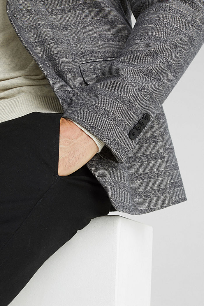 Flannel jacket with organic cotton, GREY, detail image number 2
