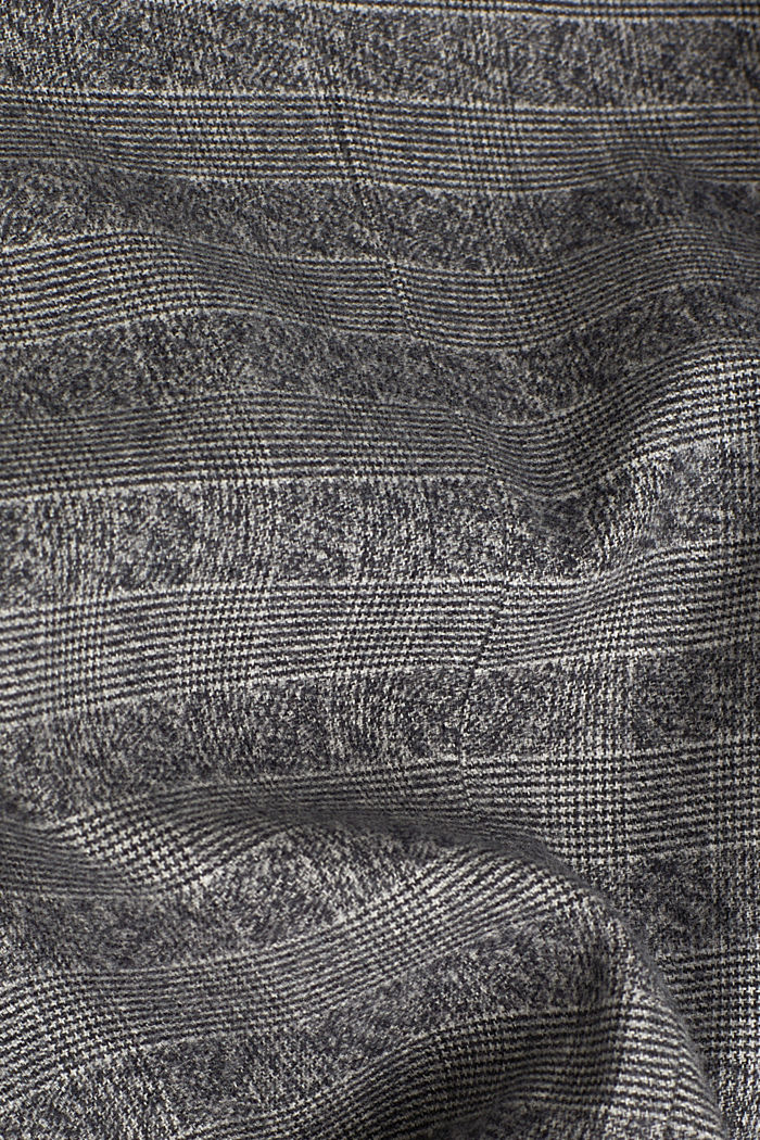Flannel jacket with organic cotton, GREY, detail image number 4