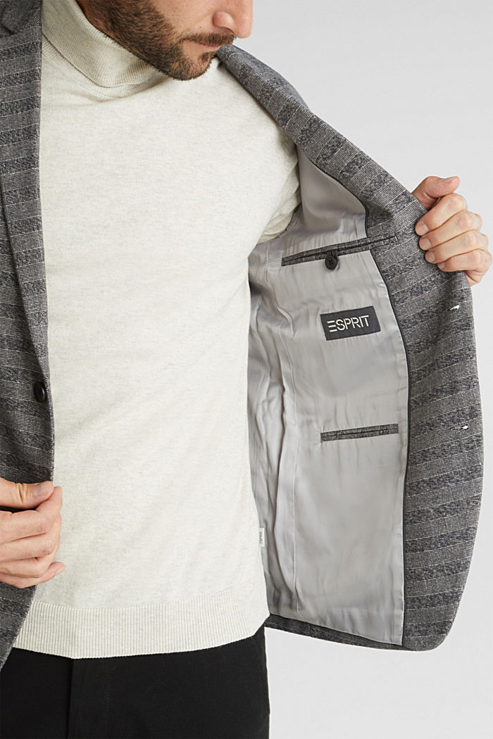 Flannel jacket with organic cotton, GREY, detail image number 5