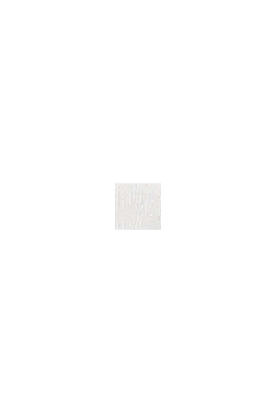 Ze 100% vlny merino: svetr s kulatým výstřihem, OFF WHITE, swatch