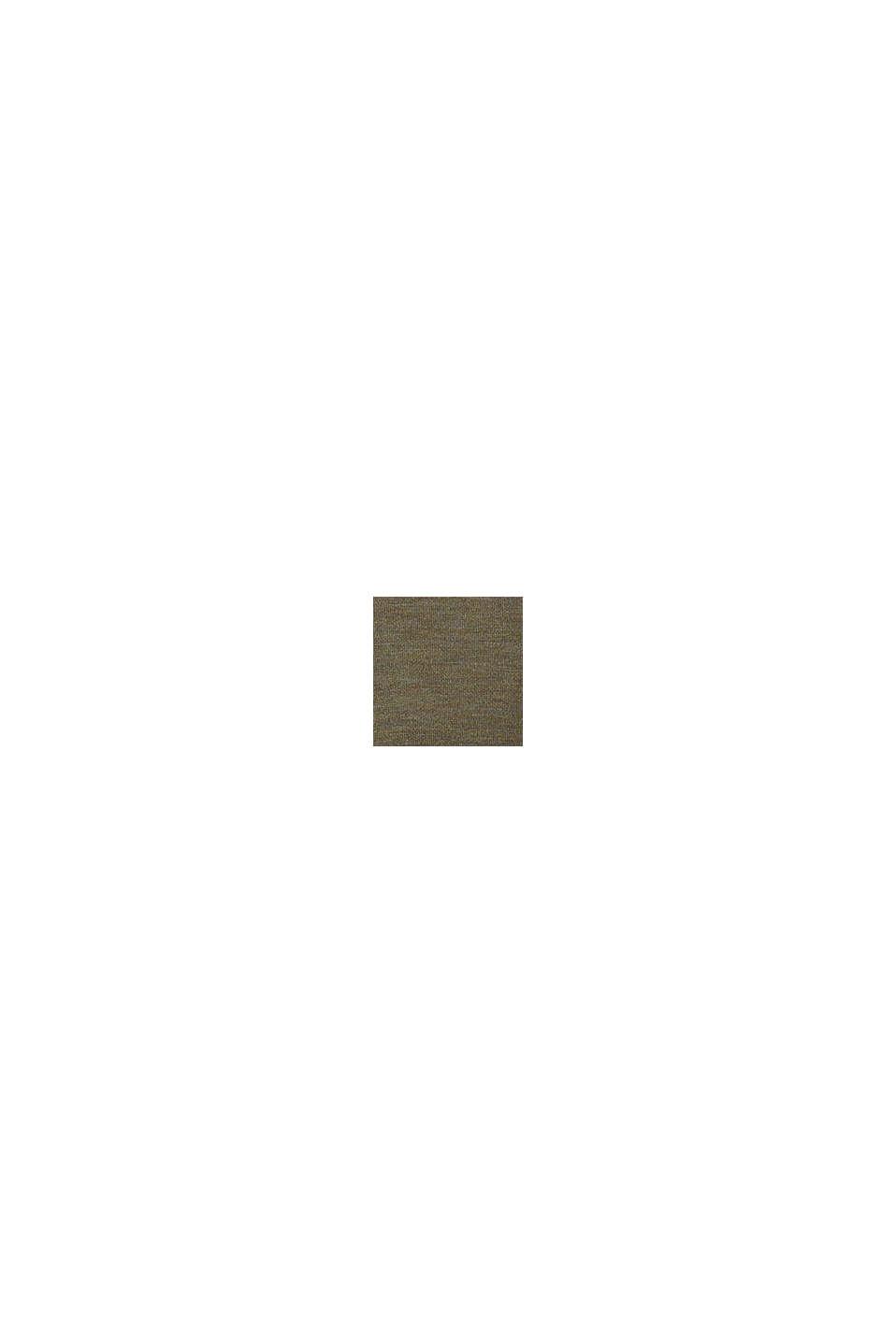 Ze 100% vlny merino: svetr s kulatým výstřihem, KHAKI GREEN, swatch