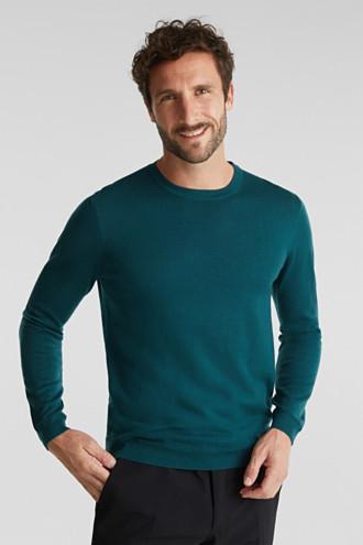 Made of 100% merino wool: crewneck jumper