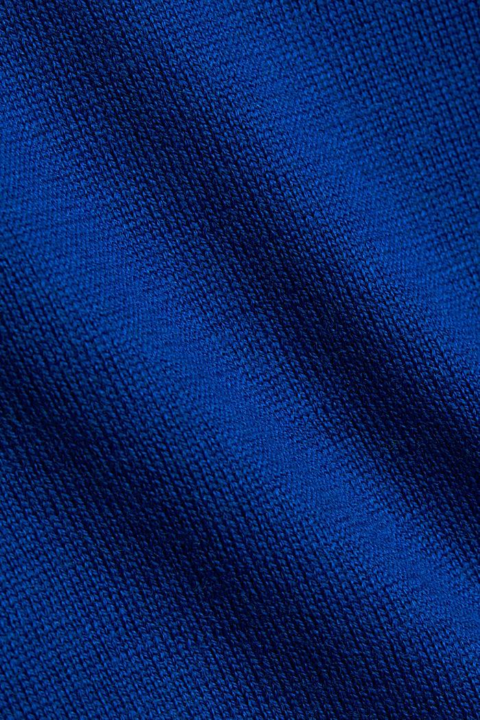 Made of 100% merino wool: crewneck jumper, BRIGHT BLUE, detail image number 4