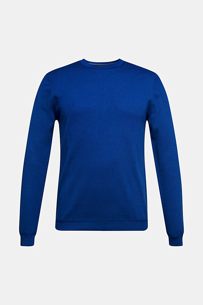 Made of 100% merino wool: crewneck jumper