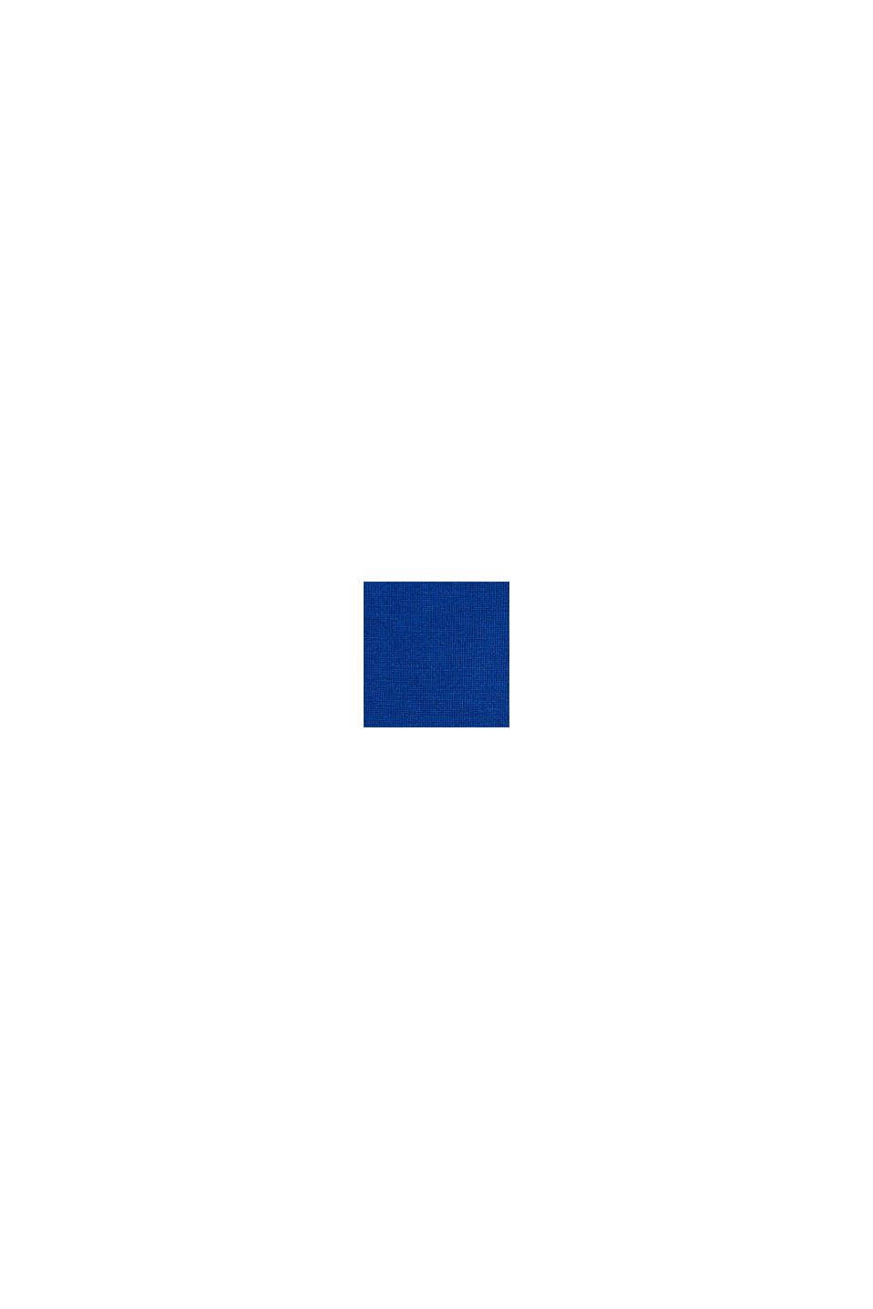Ze 100% vlny merino: svetr s kulatým výstřihem, BRIGHT BLUE, swatch