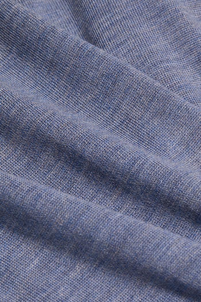 Made of 100% merino wool: crewneck jumper, BLUE LAVENDER, detail image number 4