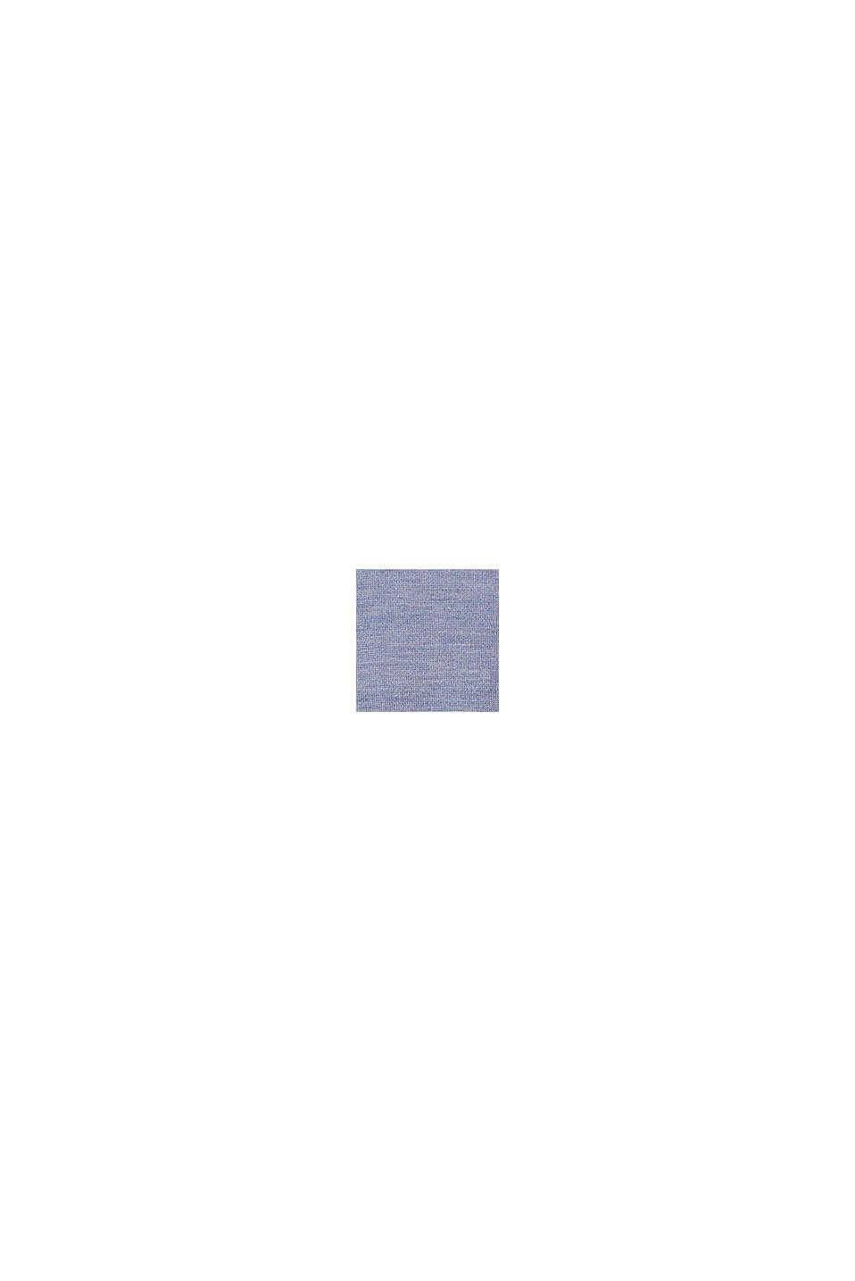 Van 100% merinoswol: trui met ronde hals, BLUE LAVENDER, swatch