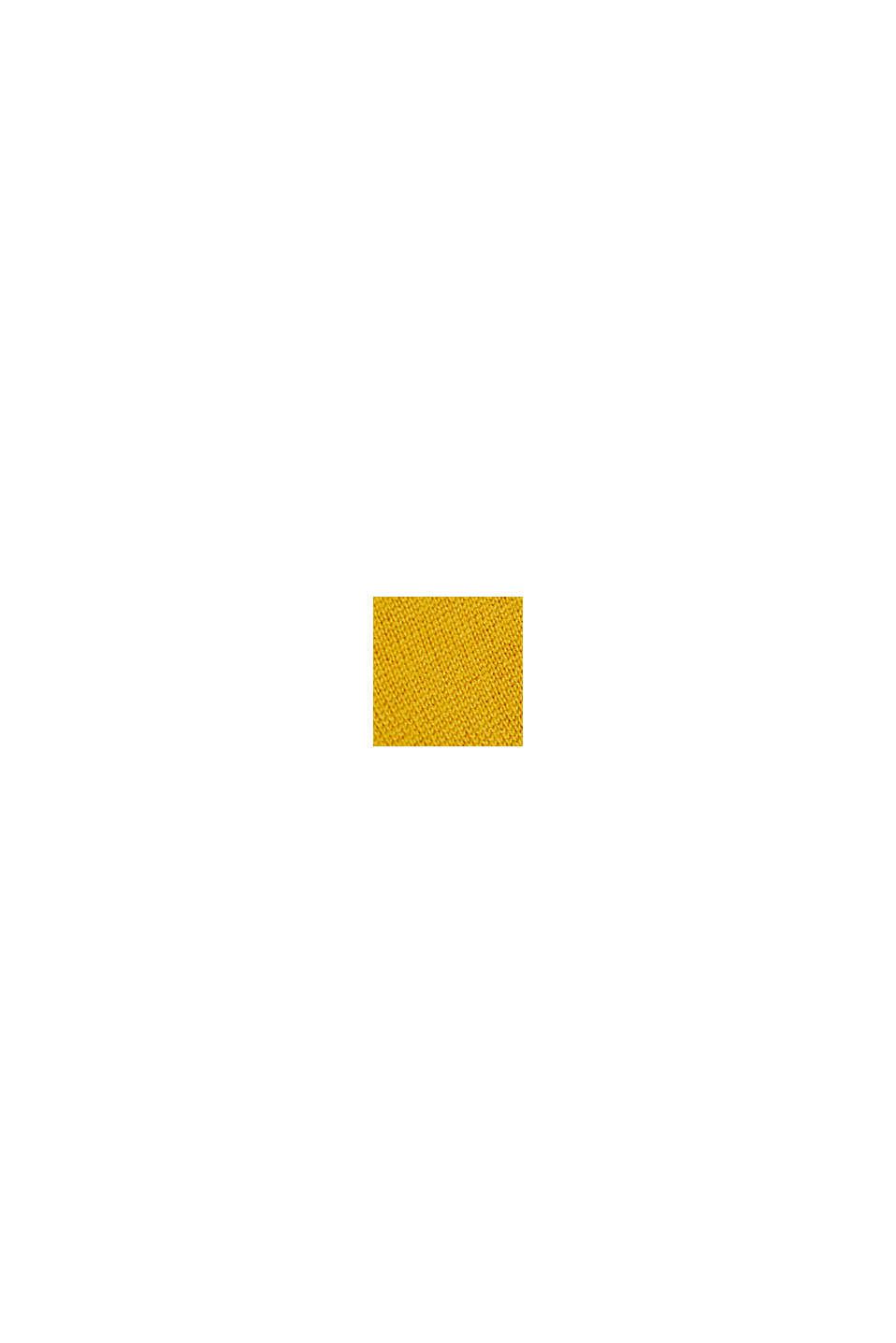Ze 100% vlny merino: svetr s kulatým výstřihem, BRASS YELLOW, swatch
