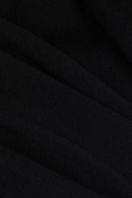 Jumper made of 100% wool, BLACK, detail
