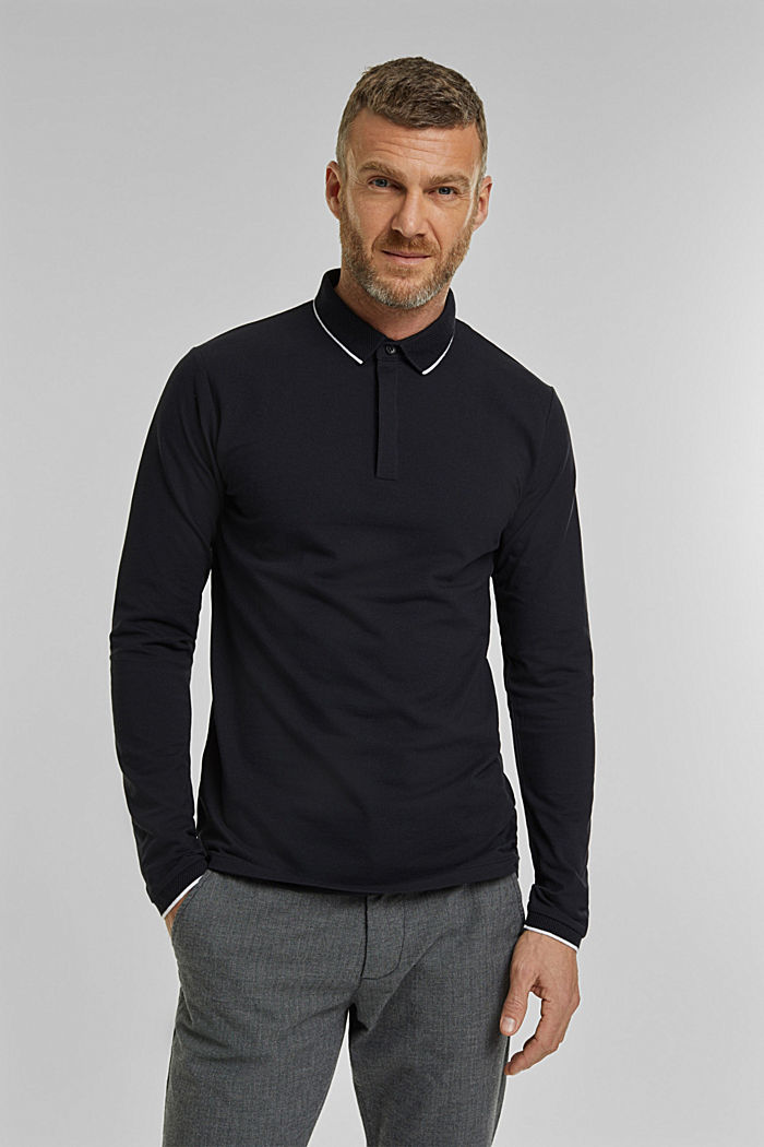 Piqué polo shirt with COOLMAX®, BLACK, detail image number 0