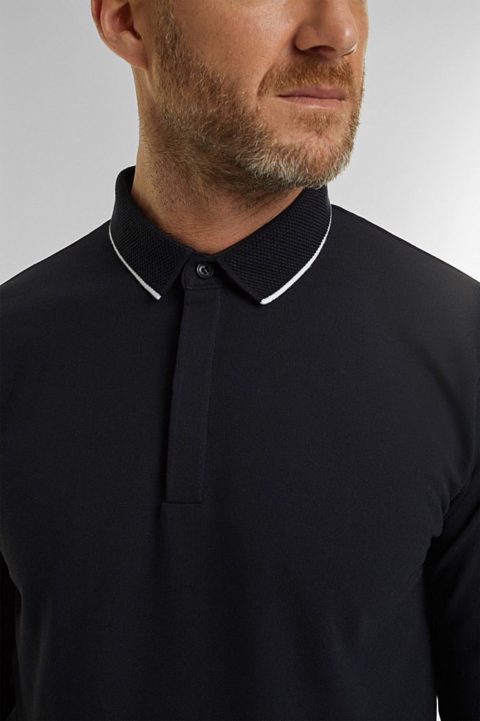 Piqué polo shirt with COOLMAX®, BLACK, detail image number 1