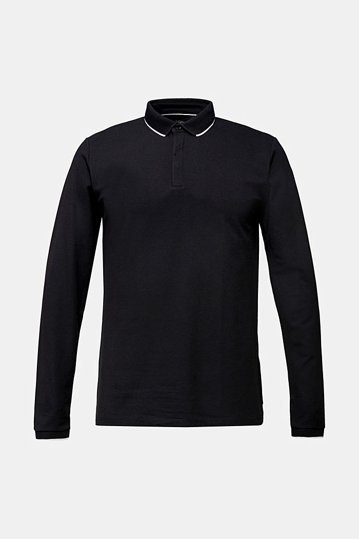 Piqué polo shirt with COOLMAX®, BLACK, detail image number 6