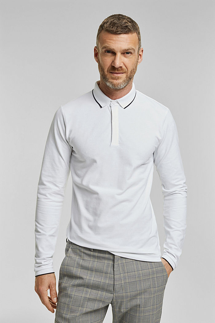 Piqué polo shirt with COOLMAX®, WHITE, detail image number 0