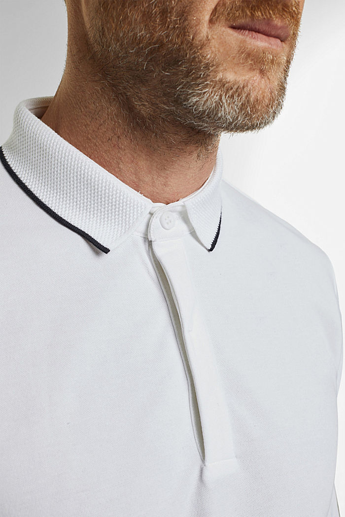 Piqué polo shirt with COOLMAX®, WHITE, detail image number 1