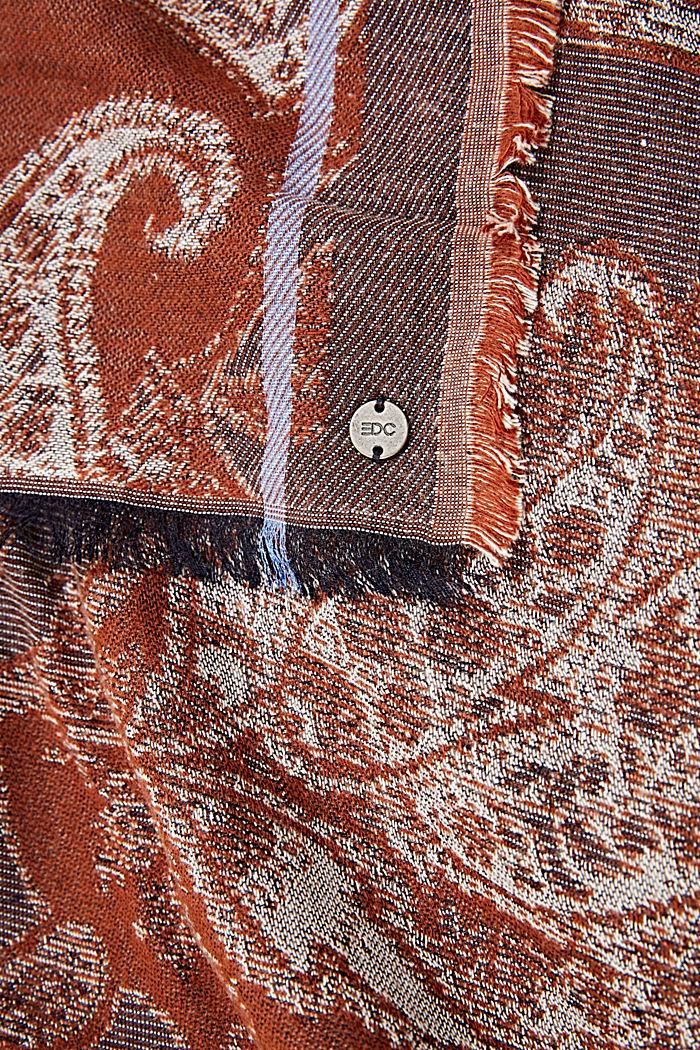 Webschal mit Muster aus Baumwoll-Mix, NAVY, detail image number 2