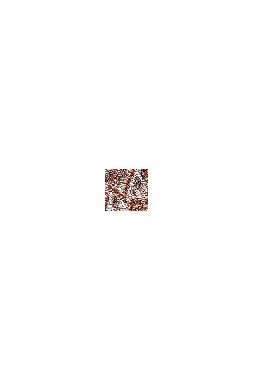 Écharpe tissée en coton mélangé à motif, NAVY, swatch