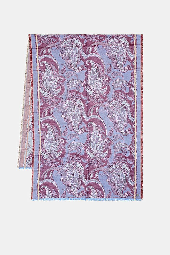 Shawls/Scarves, BRIGHT BLUE, detail image number 3