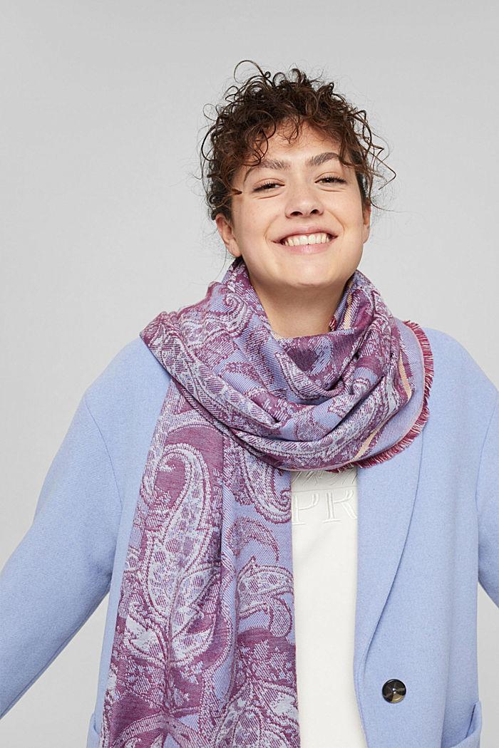 Shawls/Scarves, BRIGHT BLUE, detail image number 1