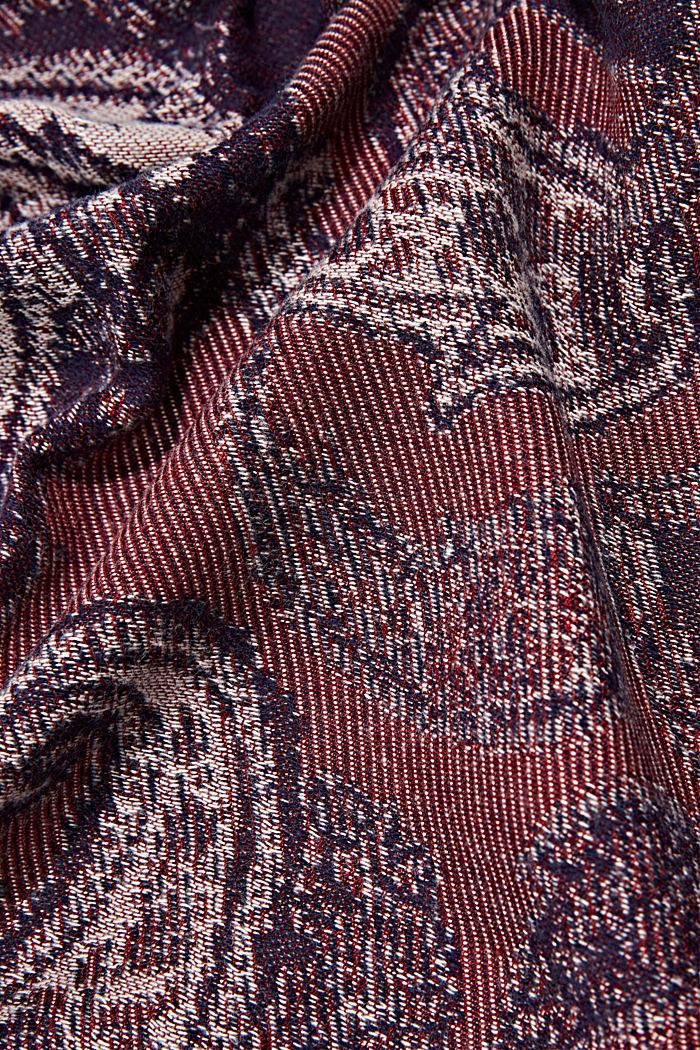 Fular en mezcla de algodón con diseño entretejido, DARK RED, detail image number 2
