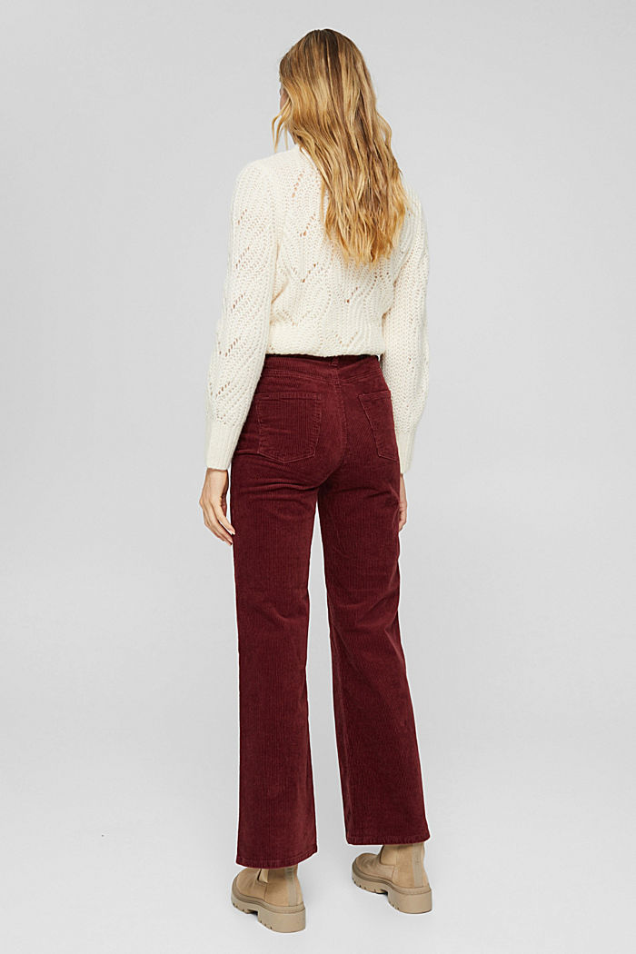 Pants woven Wide Leg High Rise, GARNET RED, detail image number 3