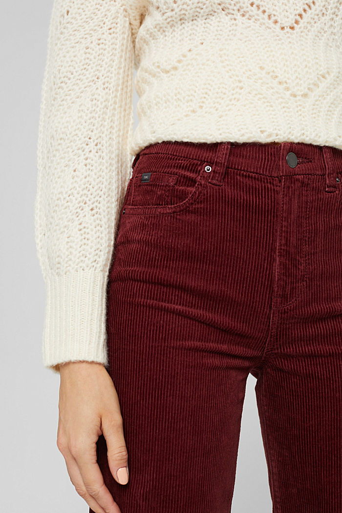 Pants woven Wide Leg High Rise, GARNET RED, detail image number 2