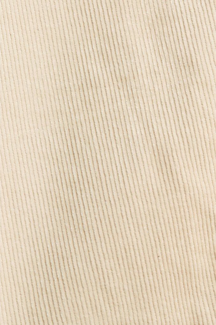 Cropped corduroy broek met modieus model, BEIGE, detail image number 4