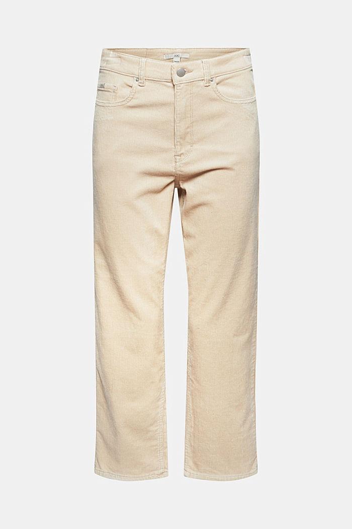 Cropped Cordhose mit Fashion-Fit