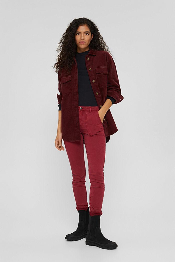 Pants woven Skinny Fit Medium Rise, DARK RED, detail image number 1