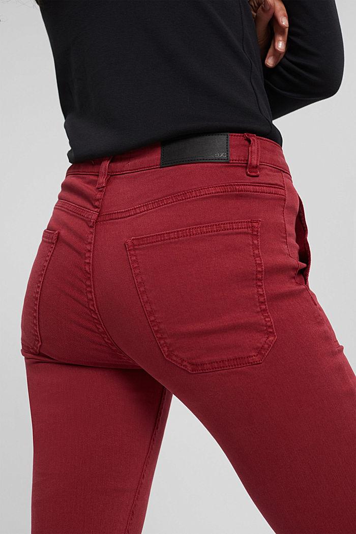 Pants woven Skinny Fit Medium Rise, DARK RED, detail image number 5