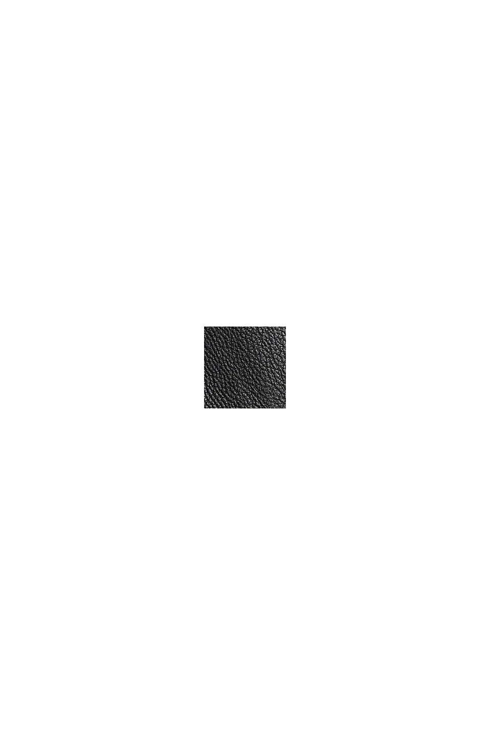 Joggersy z ekoskóry z pasem z troczkiem, BLACK, swatch
