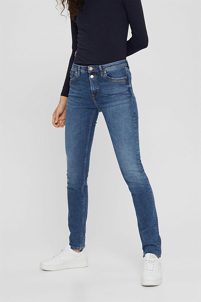 Stretch-Jeans aus Bio-Baumwolle, BLUE MEDIUM WASHED, detail image number 0
